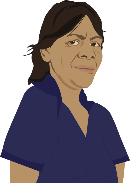 Drawing of Aunty Mary