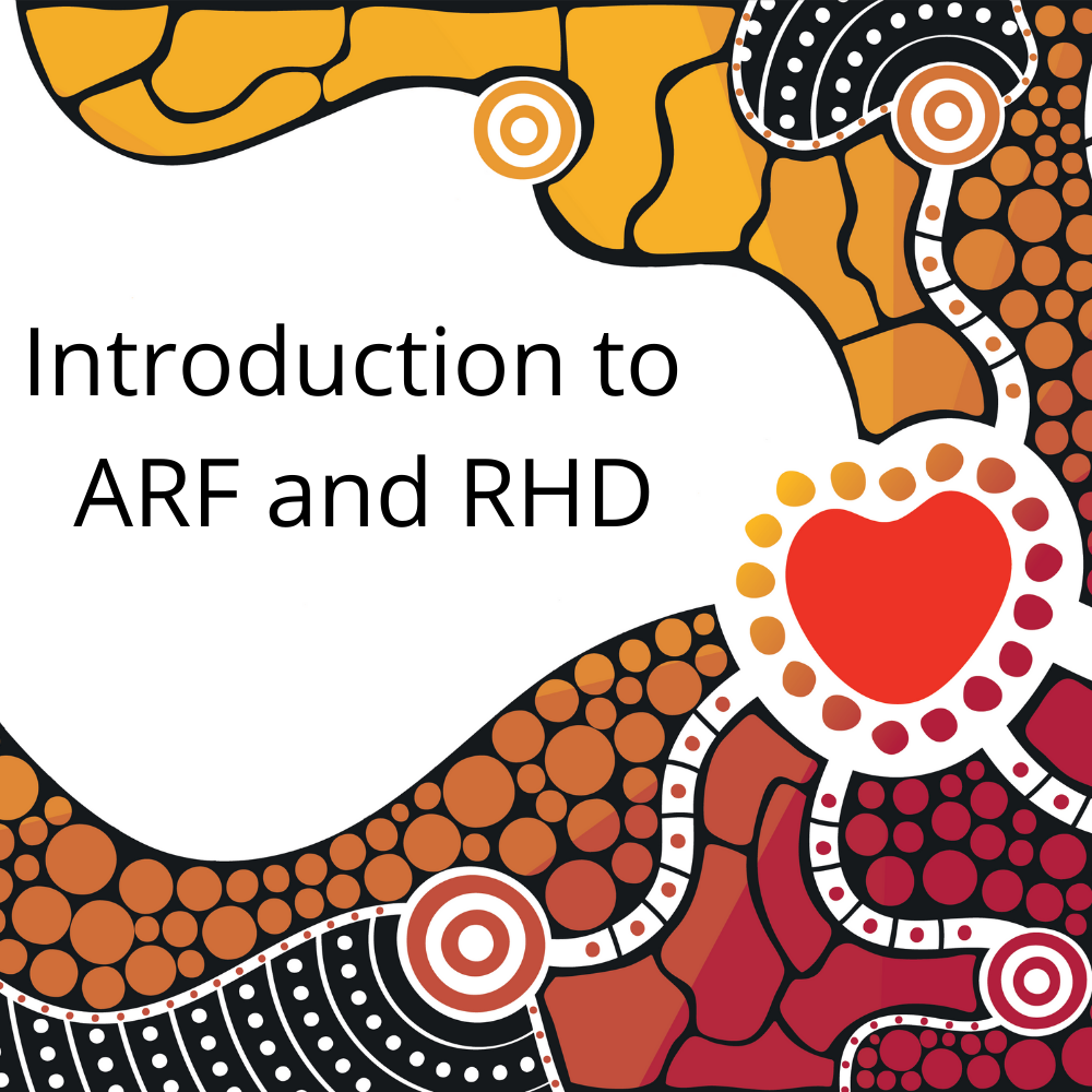 This program is designed for clinicians who require introductory knowledge of acute rheumatic fever and rheumatic heart disease. More information is available in the in the 2020 Australian guideline for prevention, diagnosis and management of acute rheumatic fever and rheumatic heart disease, 3rd edition.