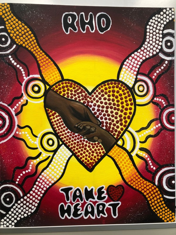 """Title of Artwork - The safe path of our children 