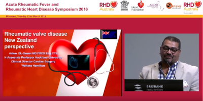 Powerpoint presentation delivered at RHDAustralia Evening Symposium, Brisbane, 22nd March 2016 by Dr. Adam El Gamel (Clinical Director Cardiac Surgery at Waikato Hospital, Hamilton, NZ and Associate Professor at Auckland University).