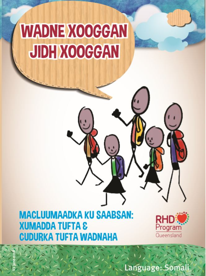 This booklet presented in Somali, contains information about the signs and symptoms of acute rheumatic fever and rheumatic heart disease, how to manage them, and how to prevent complications.