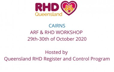 he Queensland RHD Register & Control Program are offering early access to register for the Acute Rheumatic Fever (ARF) and Rheumatic Heart Disease (RHD) 2 day workshop on the 29th and 30th of October 2020.