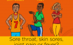 This poster highlights relevant group A streptococcal infections and the common symptoms of acute rheumatic fever.