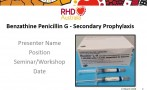 This PowerPoint presentation is based on the chapters Secondary Prophylaxis in the 2020 Australian guideline for prevention, diagnosis and management of acute rheumatic fever and rheumatic heart disease (3rd edition).