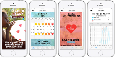 The Take Heart App is designed to help people who require regular penicillin injections to protect themselves from rheumatic fever and rheumatic heart disease.