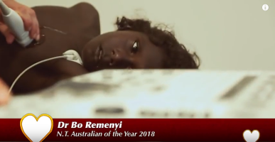 Paediatric cardiologist Dr Bo Reményi was NT Australian of the Year in 2018. She used this opportunity to highlight the high rates of rheumatic heart disease among Australia's Aboriginal and Torres Strait Islander peoples.